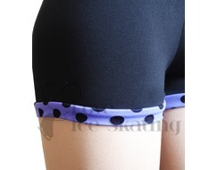 Chloe Noel Practice Ice Skating Shorts Black Purple Dot S02 - PD