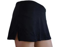 Chloe Noel A-Line Ice Skating Skirt Black
