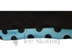 Chloe Noel Ice skating Shorts Black with Turquoise Dot
