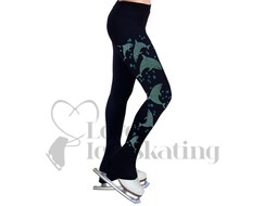 NY2 Ice Skating Leggings Dolphin Rhinestones