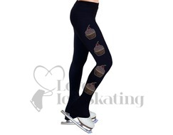 NY2 Figure Skating Leggings Rhinestones Cupcake