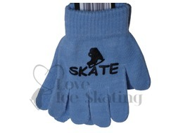 Ice Skate Logo Stamped Magic Stretch Gloves