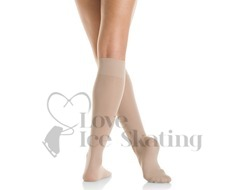 Mondor Knee High Meryl Ice Skating Socks 104 Suntan