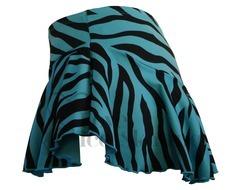 Chloe Noel York Flare Skirt Zebra/Turquoise