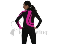 Chloe Noel J26 Figure Skating Jacket Black w Fuchsia Swirls