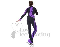 Chloe Noel J26 Figure Skating Jacket Black w Purple Swirls