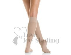 Mondor Knee High MI-BAS Ice Skating Socks Light Tan