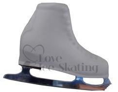 White Figure skating Boot Covers Adult