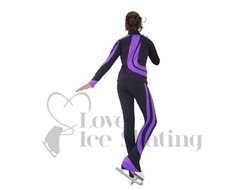 Chloe Noel Swirls Ice Skating Leggings P26 Purple with Swarovski Crystals