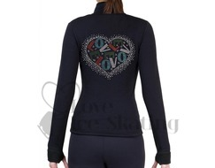 Ice Figure Skating Polartec Rhinestone Love in Heart Jacket