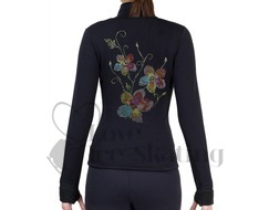 NY2 Ice Skating Jacket Rhinestone Coloured Flowers