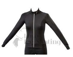 JIV Ladies Figure Skating Training Jacket Black