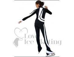 Chloe Noel Swirls Ice Skating Leggings P26 White