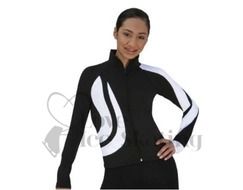 Chloe Noel J26 Figure Skating Jacket Black w White Swirls