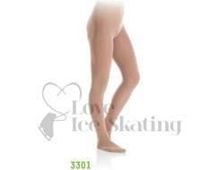 Mondor 3301 Footed Ice Skating Tights Bamboo Light Tan