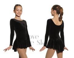 Mondor 2850 Classic Velvet Ice Skating Test Dress