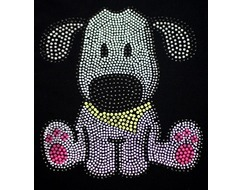 Ice Skating Jacket Rhinestone Puppy Dog
