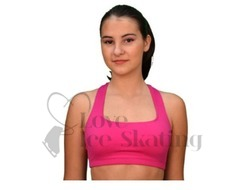 Chloe Noel Sports Racer Back Bra Top Fuchsia