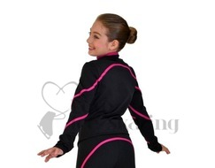 Figure Skating Training  Jacket Polar Fleece by Chloe Noel  Fuchsia