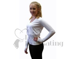 JIV Figure Skating Wrap - White
