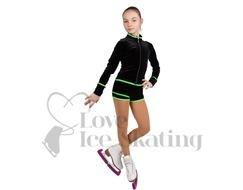 Mondor Ice Skating Shorts 2815 PG Hot Lime and Black AGE 4-6