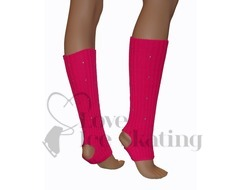 Fuchsia Leg Warmers with Rhinestones