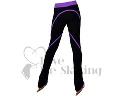 Figure Skating Leggings by Chloe Noel Purple Swirl with Swarovski Crystals