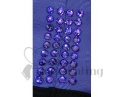 Chloe Noel PS35 Black with Purple Waist Band Skating Leggings w Swarovski  Crystals