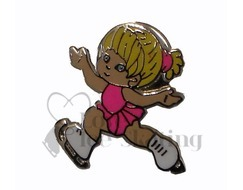 Little Girl Skater Figure Skating Enamelled Pin