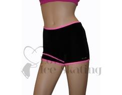 Mondor Ice Skating Shorts 2815 65 Hot Pink and Black Adult LARGE