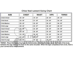 Chloe Noel Black Leotard GL111 with Fuchsia Contrast Binding