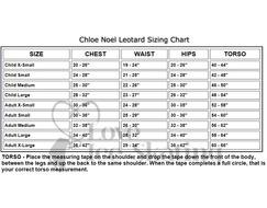Chloe Noel Leotard GL317 Black with Contrast Straps in White