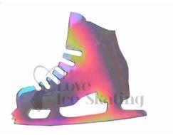 Iridescent Ice Skate Magnet