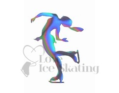 Iridescent Layback Ice Skating Magnet