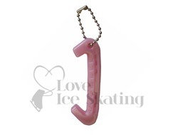 Pink Ice Skate Guard Keyring