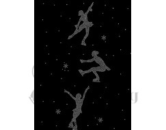 Chloe Noel P86 Ice Skating Leggings with Crystal Figure Skaters