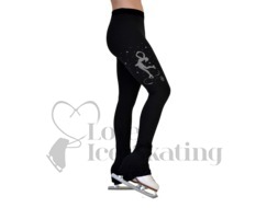 Figure Skating Leggings with Swarovski Crystal Layback Skater by Chloe Noel P86