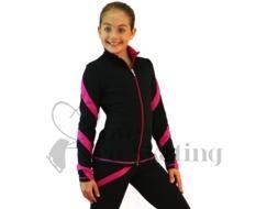Chloe Noel Spiral Figure Skating Leggings P06 Fuchsia