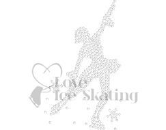 Chloe Noel J11 Figure Skating Polar Fleece Jacket with Crystal Skater