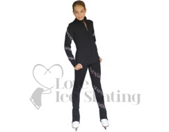 Chloe Noel PS96 Ice Skating Leggins with AB Crystal Spiral