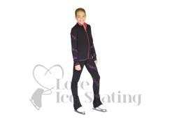 Chloe Noel Turquoise Fuchsia Crystal Spiral Jacket & Leggings Combo Set