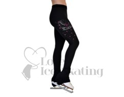 Ice Skating Leggings with Crystal Skate w Swarovski Crysyals by Chloe Noel P86