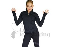 Chloe Noel JT92 Black Ice Skating Jacket with Pockets & Thumb Holes