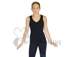 Chloe Noel Black Sleeveless Ice Skating Top