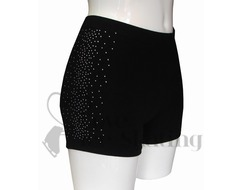 Ice Skating Shorts With Rhinestone Crystals Down One Side