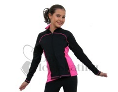 Chloe Noel J06 Princess Seam Ice Skating Jacket Fuchsia with Swarovski Crystals