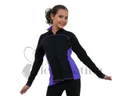 Chloe Noel J06 Princess Seam Ice Skating Jacket Purple