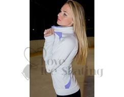 Ice Skating Training Jacket White with Lavender