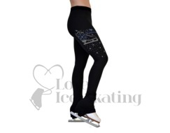 Ice Skating Leggings with Swarovski Crystals I Love Skating by Chloe Noel p86