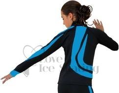Ice Skating Jacket J26 Turquoise Swirls by Chloe Noel